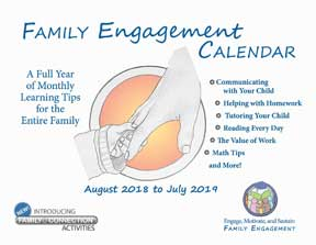 2018-2019 Family Engagement Calendar English