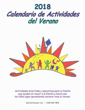 Summer Activities Calendar - Spanish